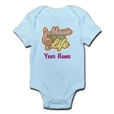 Personalized Music Quote Infant Bodysuit