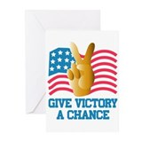 GIVE VICTORY A CHANCE Greeting Cards (6)
