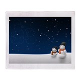 Snowmen Stargazer Throw Blanket