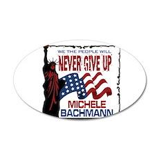 Michele Bachmann 22x14 Oval Wall Peel