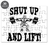 Shut Up And Lift Weightlifting Puzzle