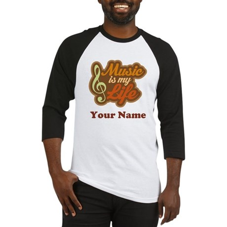 Custom Musical Quote Baseball Jersey