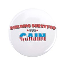 "Building surveyor for Cain 3.5"" Button (100 pack)"