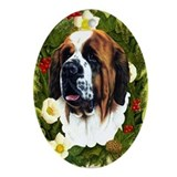 Saint Bernard Ornament (Oval)