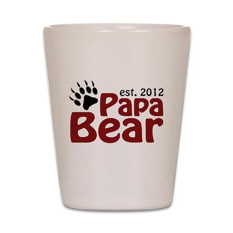 Papa Bear Claw Est 2012 Shot Glass