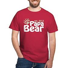 Papa Bear Claw Est 2012 T-Shirt