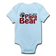 Papa Bear Claw Est 2012 Infant Bodysuit