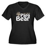 Papa Bear Claw Est 2012 Women's Plus Size V-Neck D