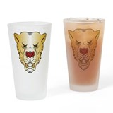 Leopards Drinking Glass