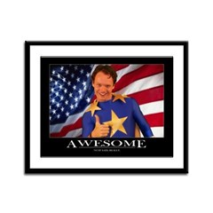 """Awesome"" Motivational Framed Panel Prin"