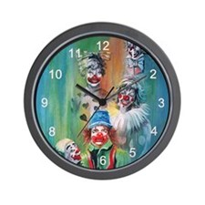 Parade of Clowns Wall Clock