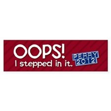 Rick Perry Blunder Bumper Sticker