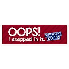 Rick Perry Blunder Bumper Sticker