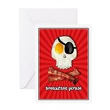 Breakfast Pirate... Greeting Card