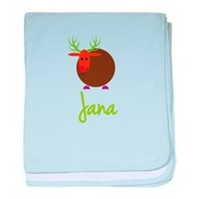 Jana the Reindeer baby blanket