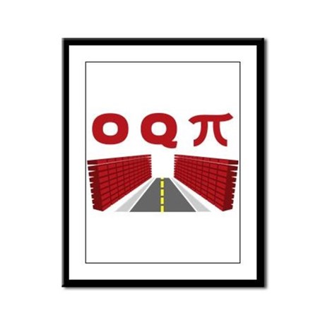 Occupy (OQPi) Wall Street Framed Panel Print