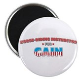 "Horse-riding instructor for C 2.25"" Magnet (10 pac"