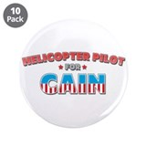 "Helicopter pilot for Cain 3.5"" Button (10 pack)"