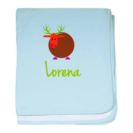 Lorena the Reindeer baby blanket
