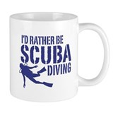 I'd Rather Be Scuba Diving Small Mug