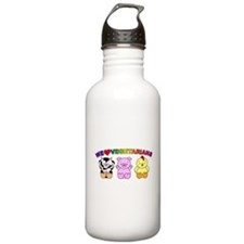 We Love Vegetarians Water Bottle