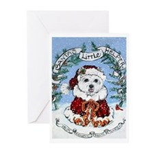 Santa West Highland White Ter Greeting Cards (Pk o