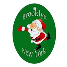 Brooklyn Christmas Ornament (Oval)