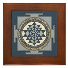 Sri Yantra Mandala Framed Tile