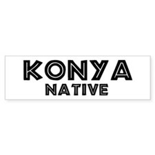 Konya Native Bumper Car Sticker
