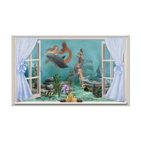 A Mermaids World 38.5 x 24.5 Wall Peel