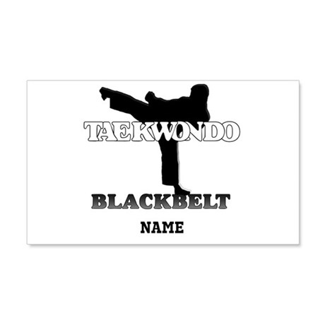 Personalized TaeKwonDo Black Belt 22x14 Wall Peel