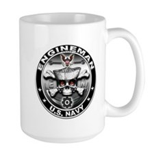 USN Engineman Skull EN Mug