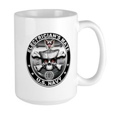 USN Electricians Mate Skull E Coffee Mug
