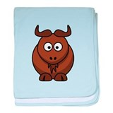 Cartoon Gnu baby blanket