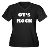 OT's Rock Women's Plus Size V-Neck Dark T-Shirt