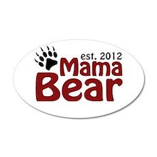 Mama Bear Est 2012 22x14 Oval Wall Peel