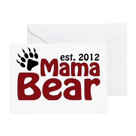 Mama Bear Est 2012 Greeting Card