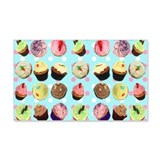 Polka Dot Cupcakes 22x14 Wall Peel