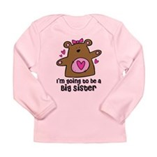 Teddy Bear Future Big Sister Long Sleeve Infant T-