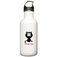 wicked kitty Sports Water Bottle
