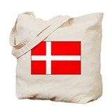 Danish National Flag Tote Bag