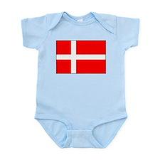Danish National Flag Infant Creeper