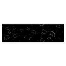 Asteroids! Bumper Sticker