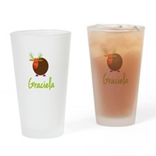Graciela the Reindeer Drinking Glass
