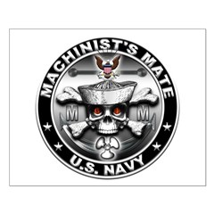 USN Machinists Mate Skull MM Posters