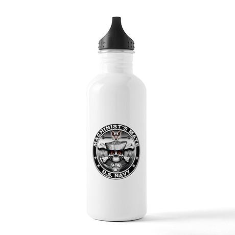 USN Machinists Mate Skull MM Stainless Water Bottl