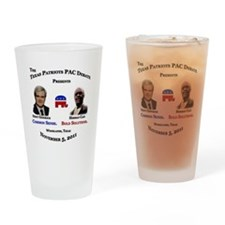 Newt & Cain Debate Drinking Glass