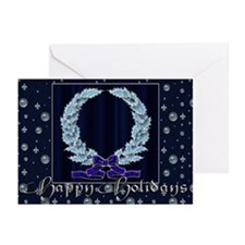 Harvest Moon's Crystal Wreath Cards (Pk of 10)