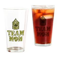 Baseball Team Mom - Sergeant Stripes Drinking Glas