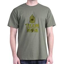 Football Team Mom - Sergeant Stripes T-Shirt